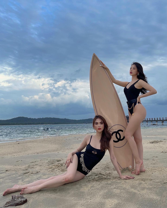 Chi Pu - Ngoc Trinh do sac, body than thai