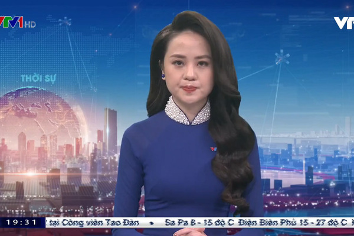 Nhan sac BTV Ngoc Bich vua len song Thoi su 19h VTV