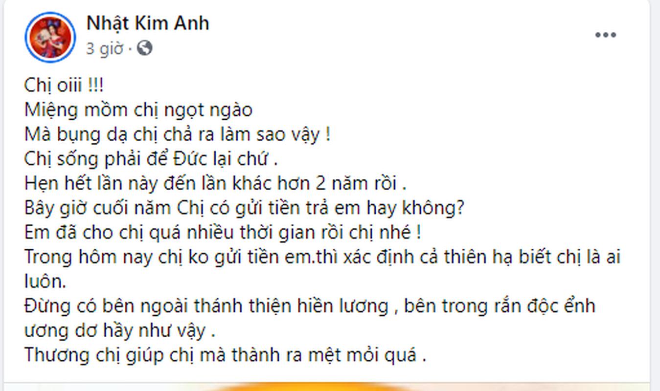 Nhat Kim Anh buc xuc ke vay tien khong tra, doa cong khai dien mao-Hinh-2