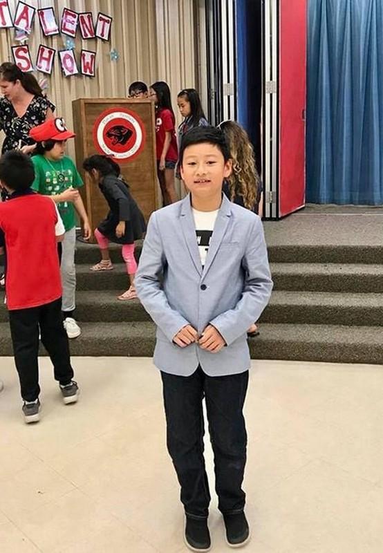 Con trai cua Quang Dung - Jennifer Pham cao 1m72, chung chac o tuoi 13-Hinh-7