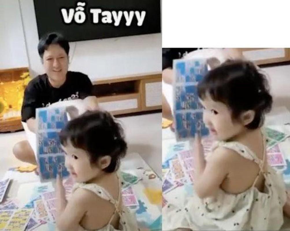 Con gai Truong Giang - Nha Phuong lo mat cute, lam viec nha thoan thoat-Hinh-5