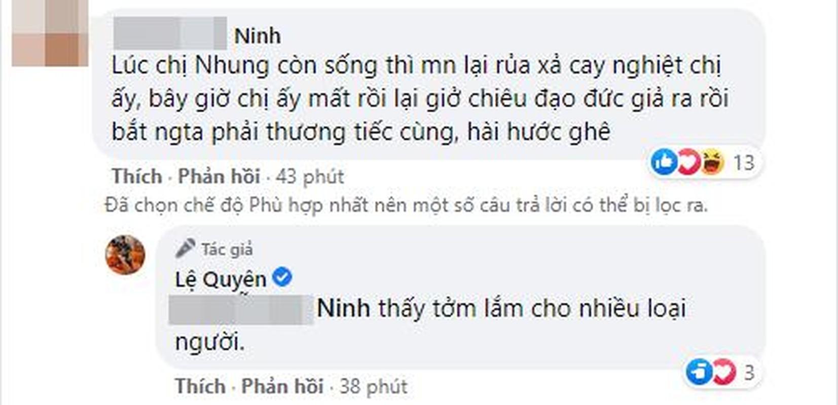 Tranh cai hanh dong cua Le Quyen ngay Phi Nhung qua doi-Hinh-8