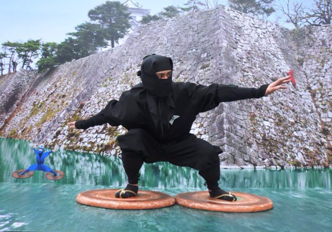 Su that dang long ve thuat di tren nuoc cua ninja Nhat Ban