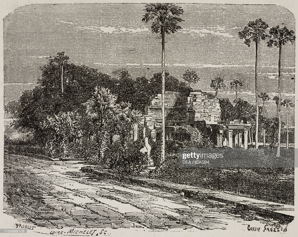 Hinh anh gay sung sot ve den Angkor Wat 140 nam truoc