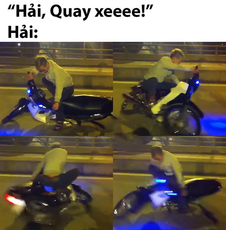 Quang Hai meo mat voi trao luu Hai, quay xe hot tren mang xa hoi-Hinh-6