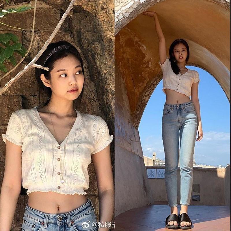 Mix do voi croptop don gian ma dep nhu Jennie (BlackPink)-Hinh-6
