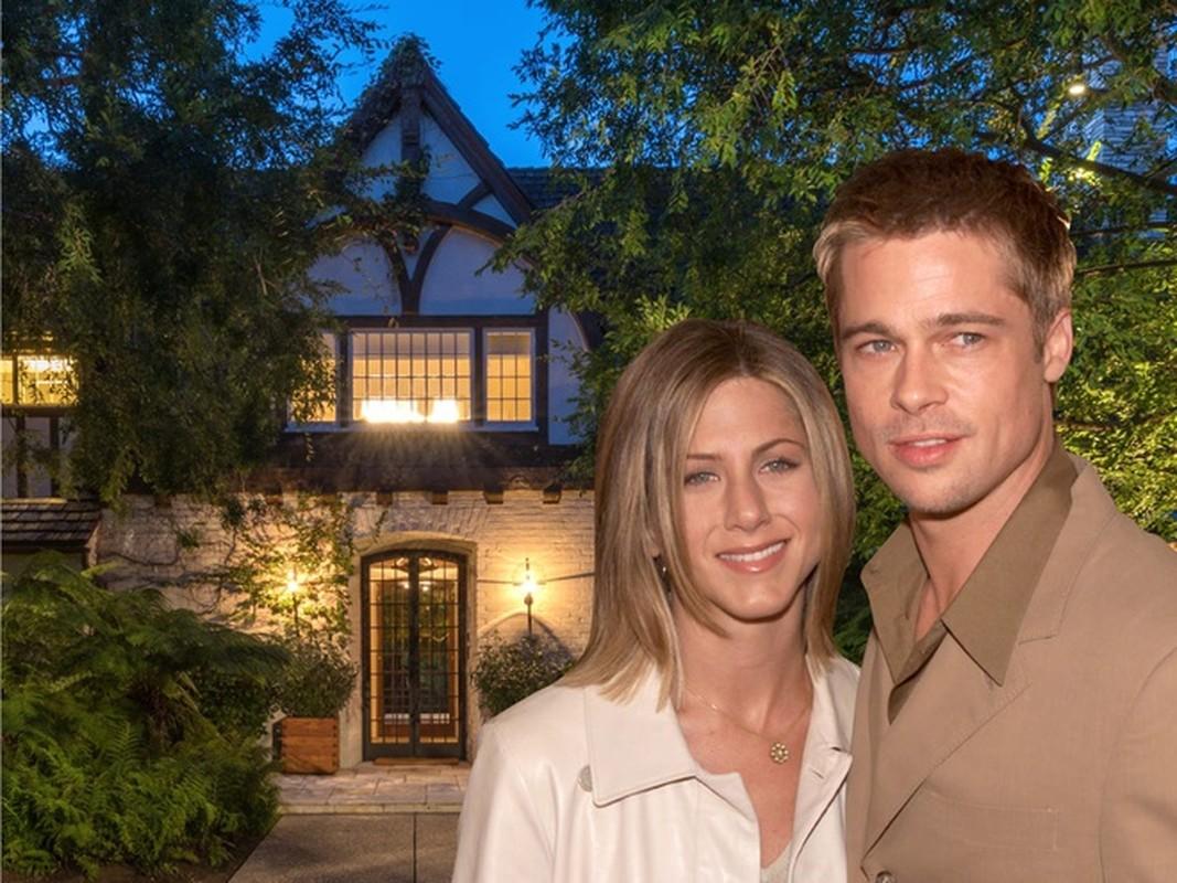Biet thu cu cua Jennifer Aniston va Brad Pitt gia 44,5 trieu USD