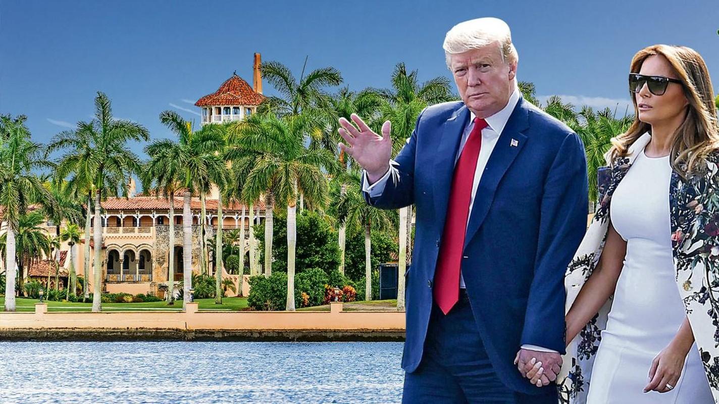 Ben trong dinh thu dat vang cua vo chong ong Trump