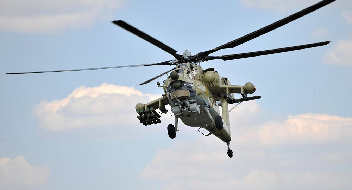 Truc thang Mi-28UB Nga gap nan: Vuong day dien cao the, roi up nguoc tan tanh