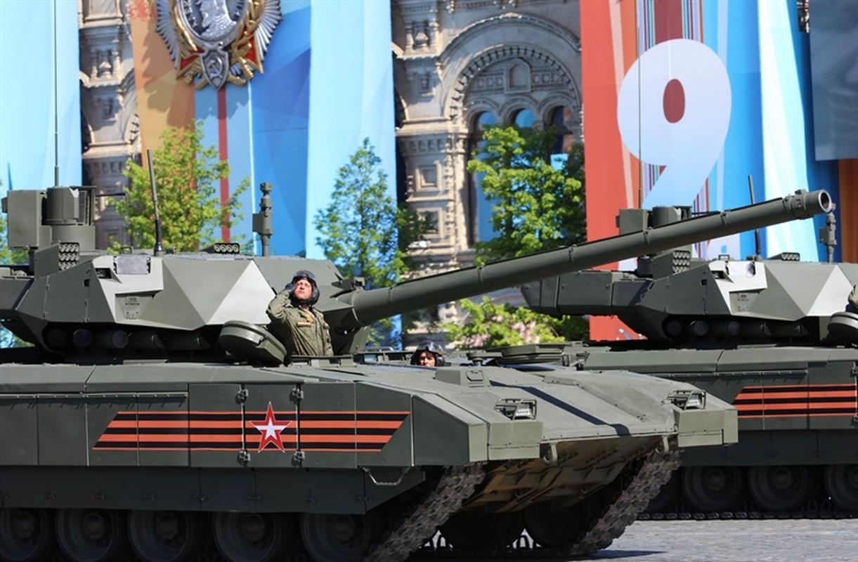 Nga bat luc trong ke hoach lap nha ve sinh tren... xe tang T-14 Armata