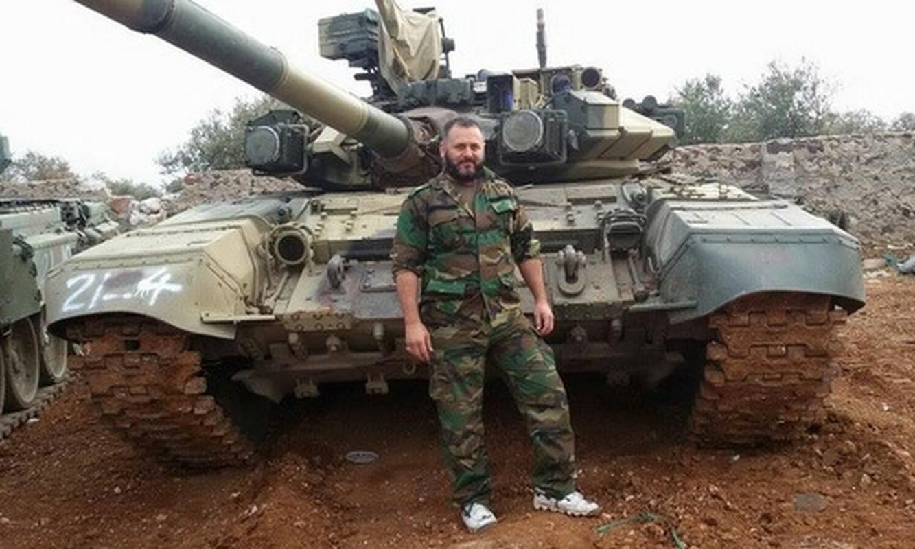 Phien quan HTS dung xe tang T-90A tan cong quan doi chinh phu Syria-Hinh-7