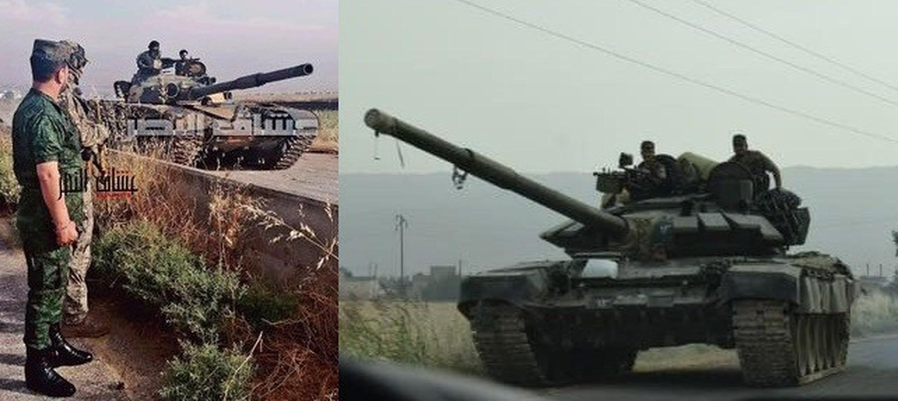 Phien quan HTS dung xe tang T-90A tan cong quan doi chinh phu Syria-Hinh-8