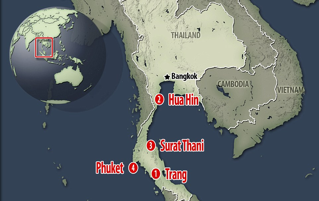 Anh moi nhat ve loat vu danh bom dam mau o Thai Lan