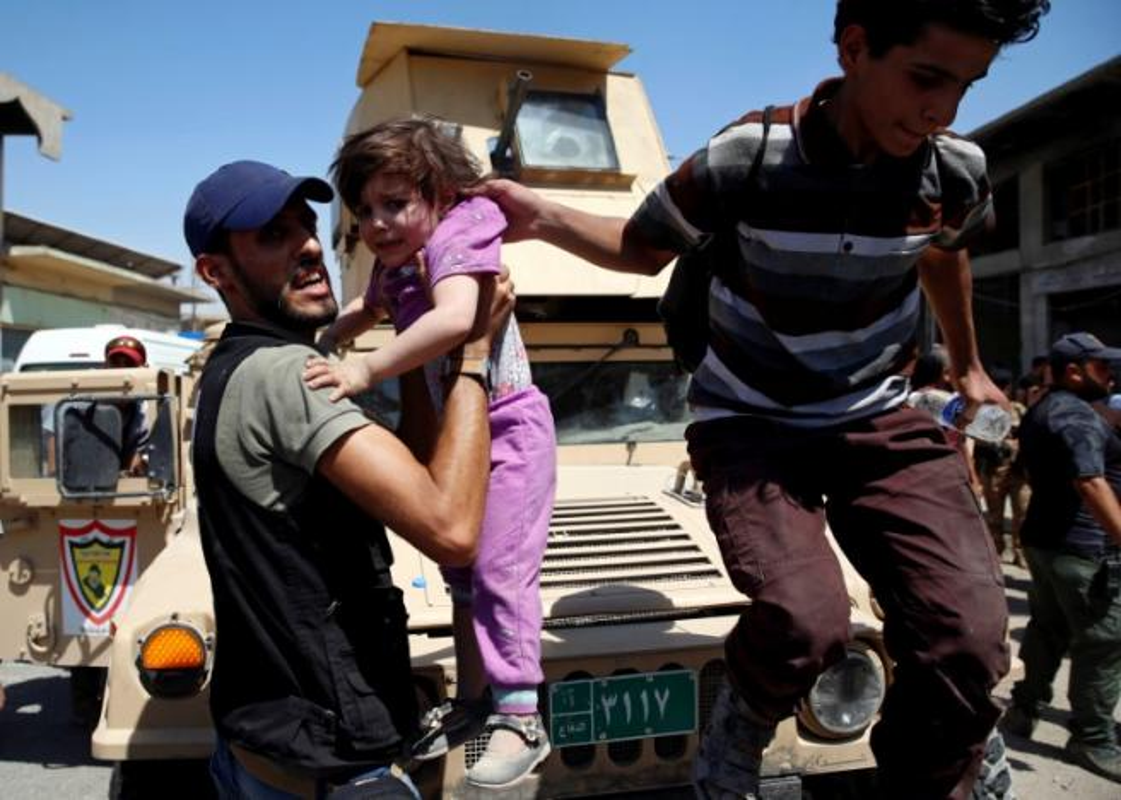 Anh: Giao tranh du doi, dan Iraq keo nhau roi Thanh co Mosul-Hinh-5