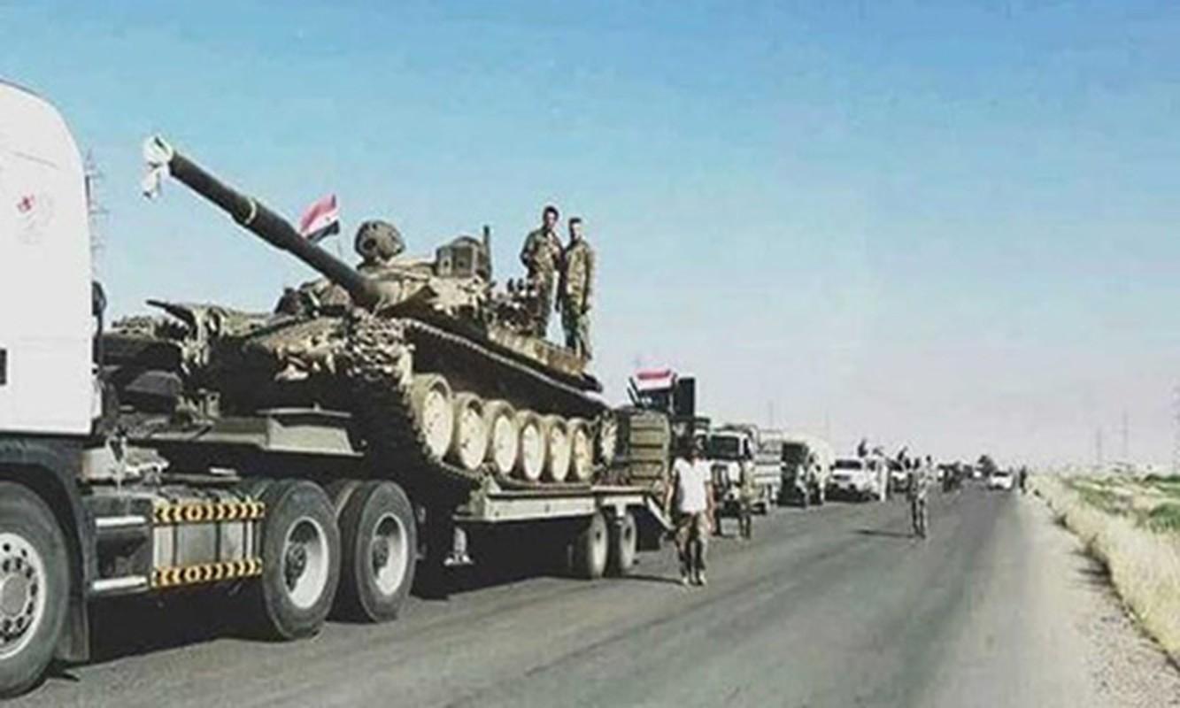 "Syria dieu tiep vien hung hau toi Sweida, sap ""ket lieu"" IS tai al-Safa"