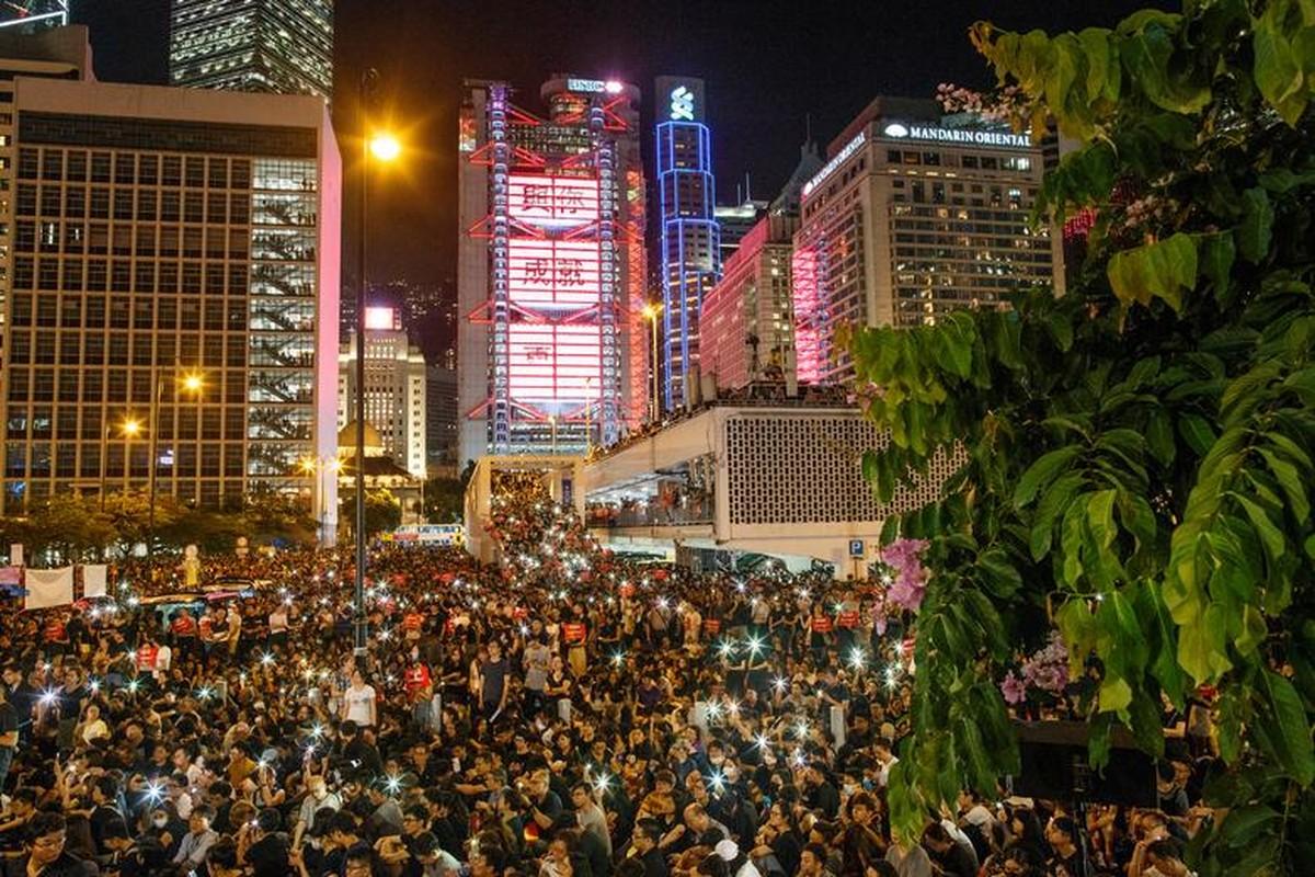 Bien nguoi bieu tinh o Hong Kong truoc G20-Hinh-4
