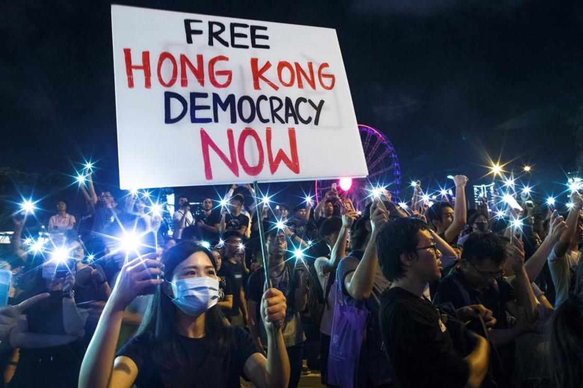 Bien nguoi bieu tinh o Hong Kong truoc G20