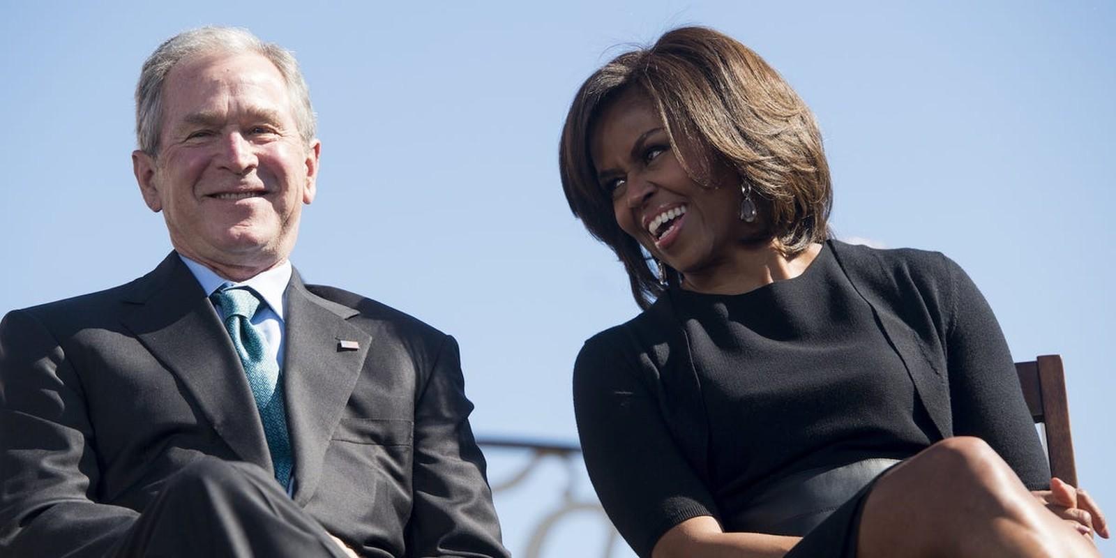 An tuong tinh ban cua cuu Tong thong My Bush va ba Michelle Obama-Hinh-12