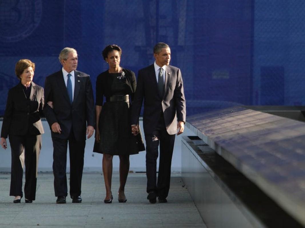 An tuong tinh ban cua cuu Tong thong My Bush va ba Michelle Obama-Hinh-2