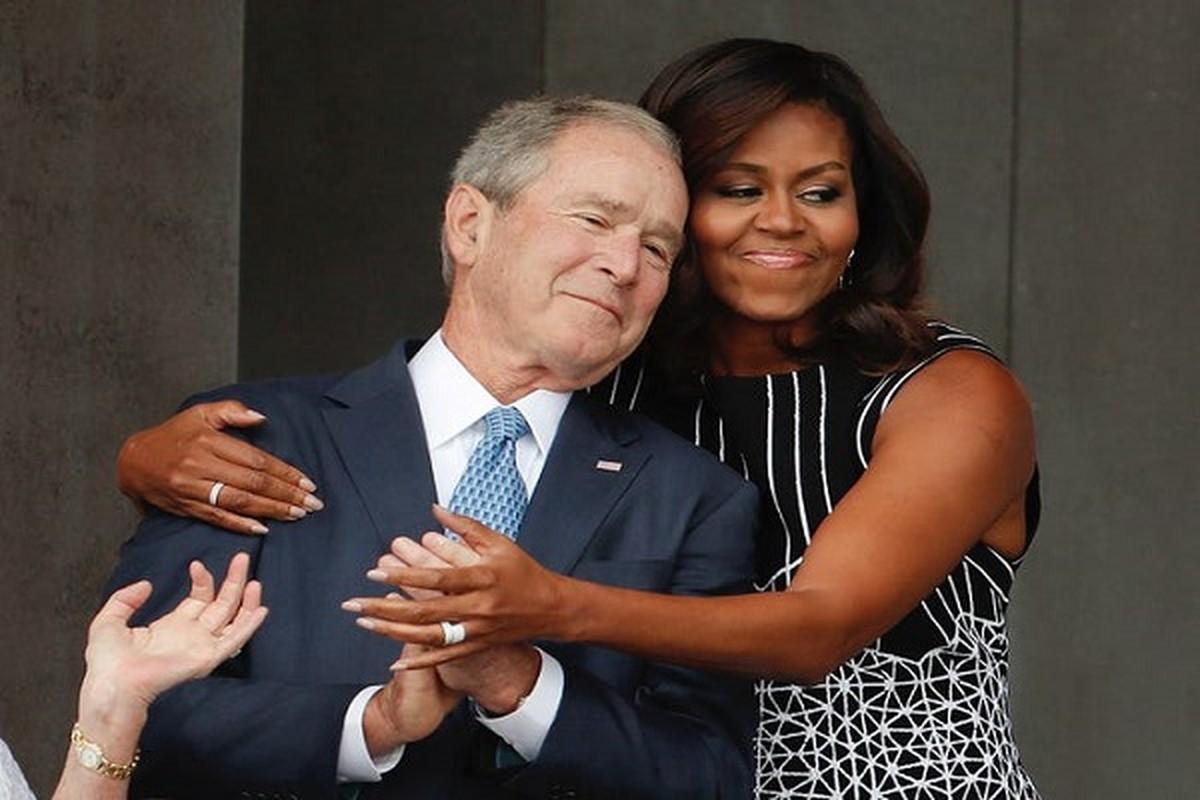 An tuong tinh ban cua cuu Tong thong My Bush va ba Michelle Obama-Hinh-3