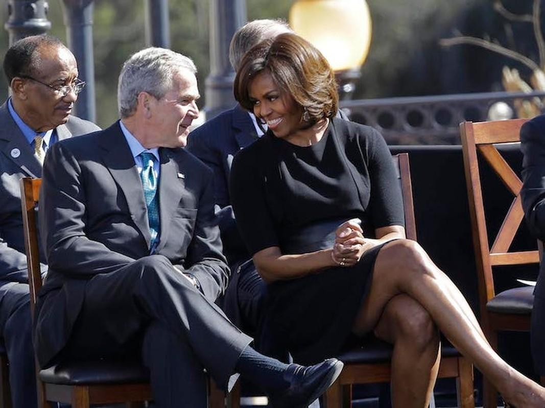 An tuong tinh ban cua cuu Tong thong My Bush va ba Michelle Obama-Hinh-5