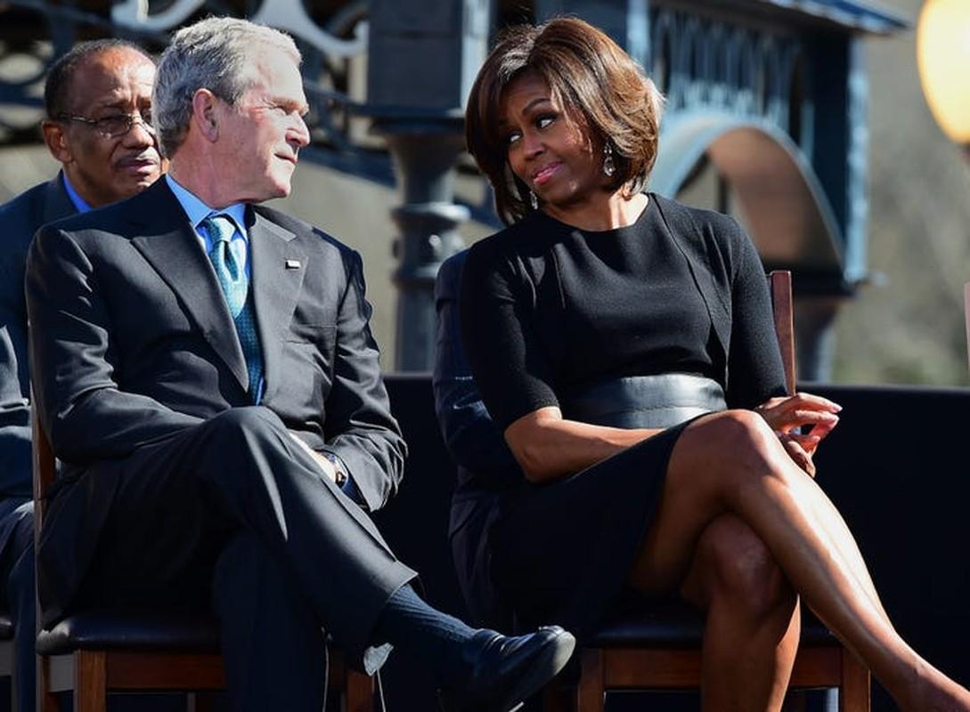 An tuong tinh ban cua cuu Tong thong My Bush va ba Michelle Obama-Hinh-6
