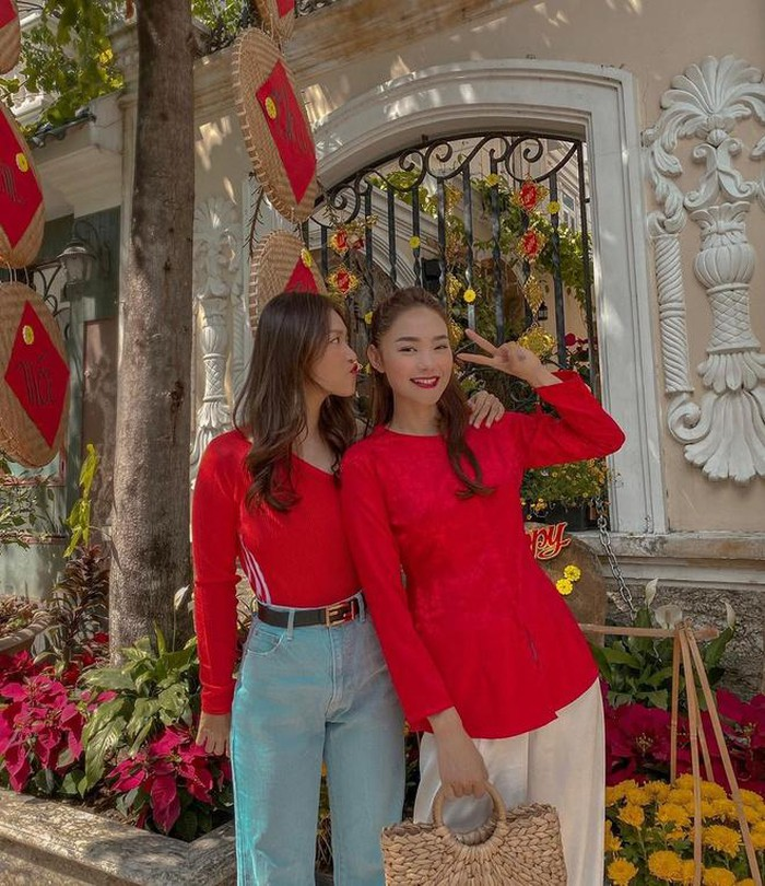 Ho Ngoc Ha, Hoa Minzy va loat sao Viet dang anh ben ban trai ngay Tet-Hinh-15