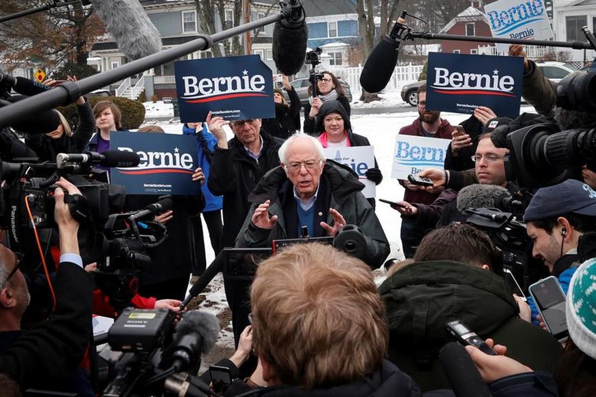 Anh: Ung vien Tong thong My Bernie Sanders thang lon tai New Hampshire-Hinh-12