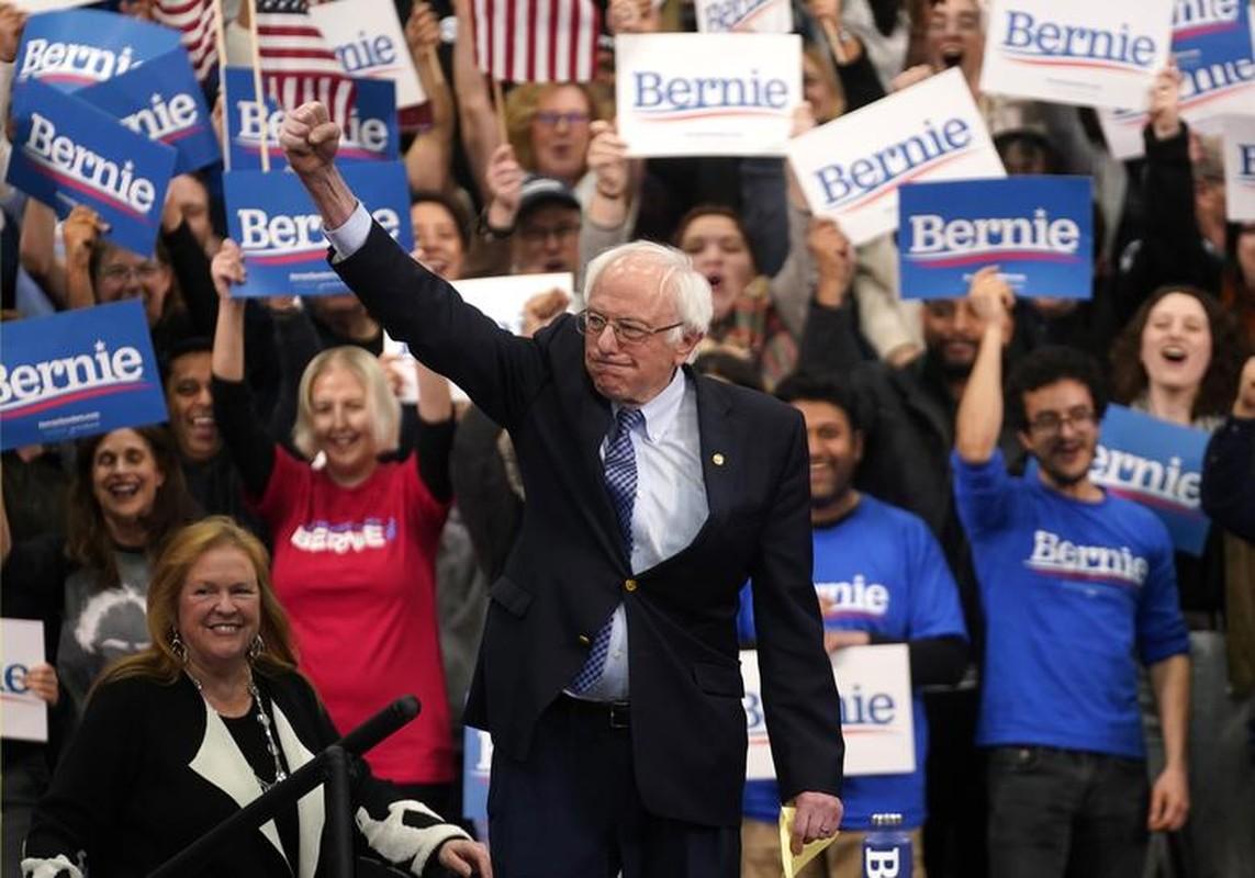 Anh: Ung vien Tong thong My Bernie Sanders thang lon tai New Hampshire-Hinh-3