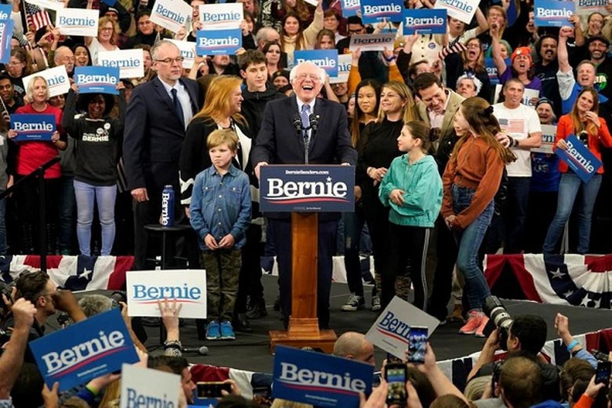 Anh: Ung vien Tong thong My Bernie Sanders thang lon tai New Hampshire