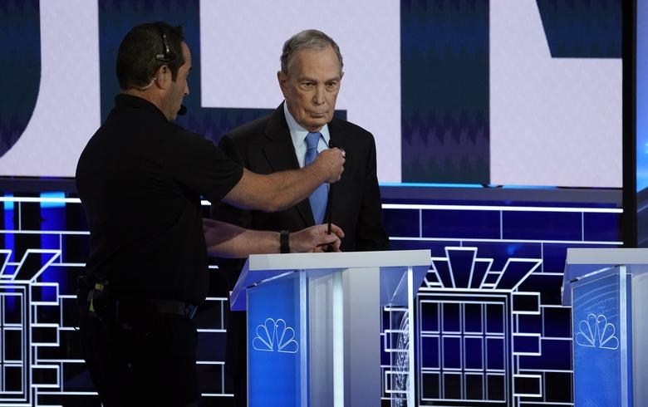 Anh: Ung vien Tong thong My Michael Bloomberg tranh luan truc tiep tren truyen hinh-Hinh-3