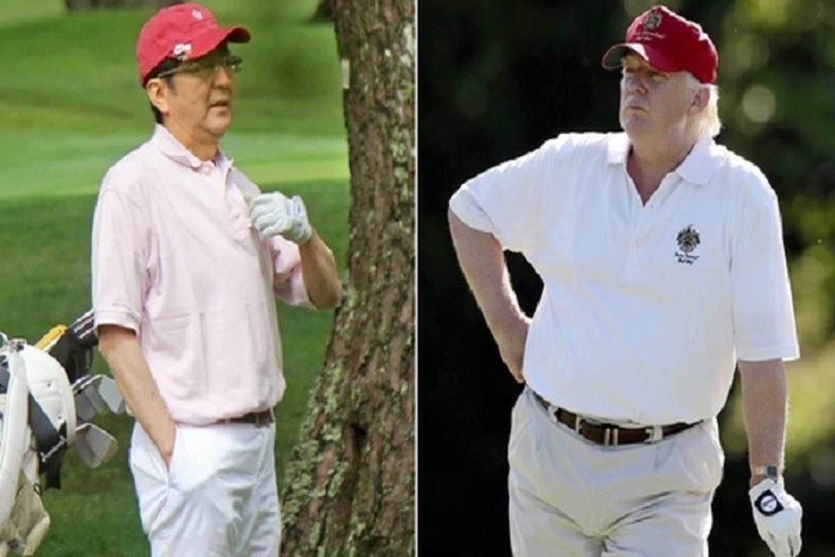 "Thu tuong Abe va nhung lan ""ngoai giao san golf"" voi Tong thong Trump-Hinh-6"