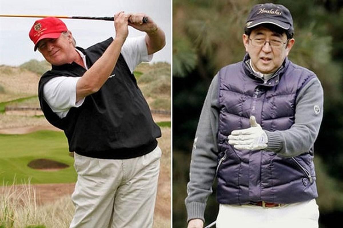 "Thu tuong Abe va nhung lan ""ngoai giao san golf"" voi Tong thong Trump-Hinh-8"