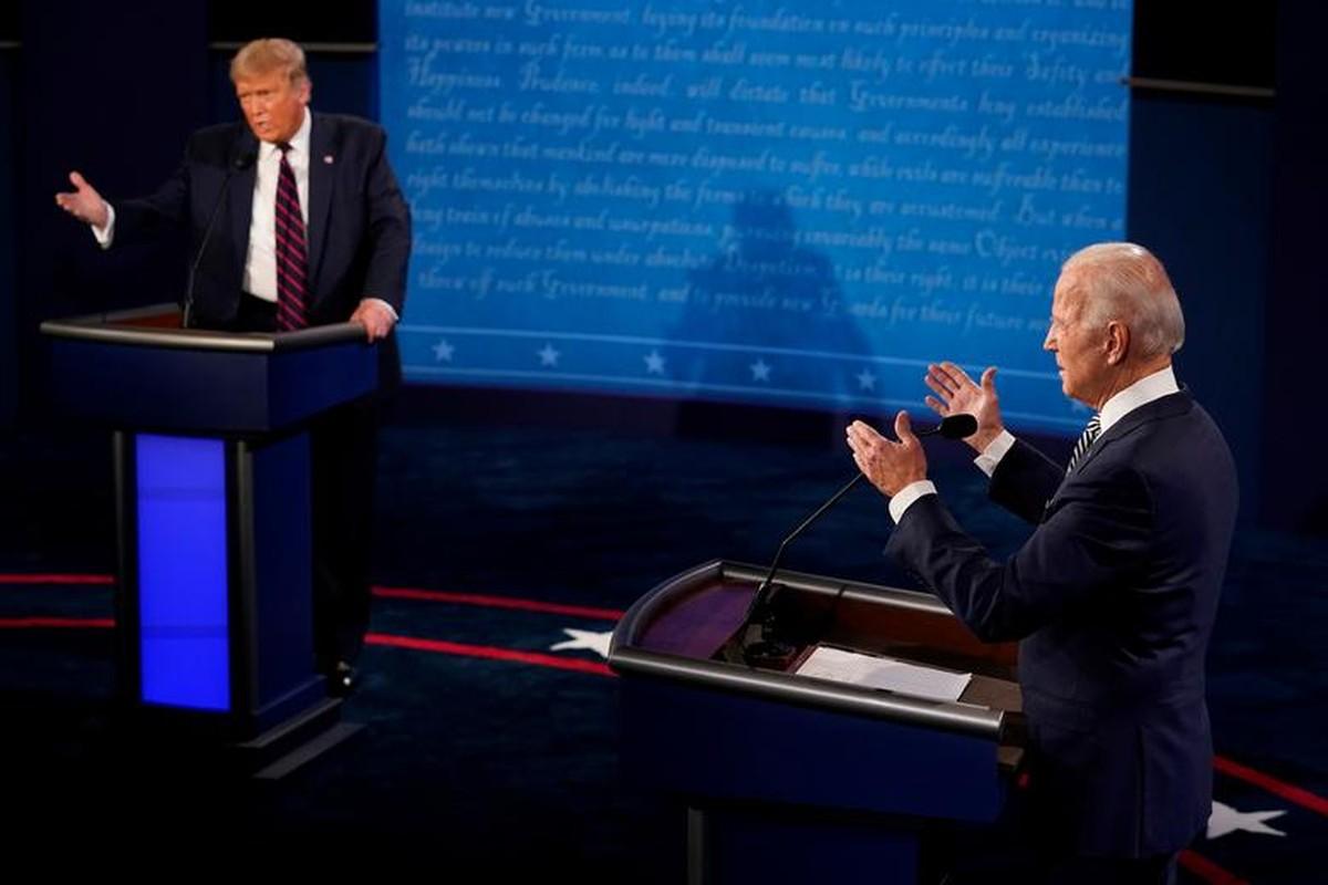 Hinh anh dau tien trong cuoc tranh luan giua ong Trump - Biden-Hinh-2