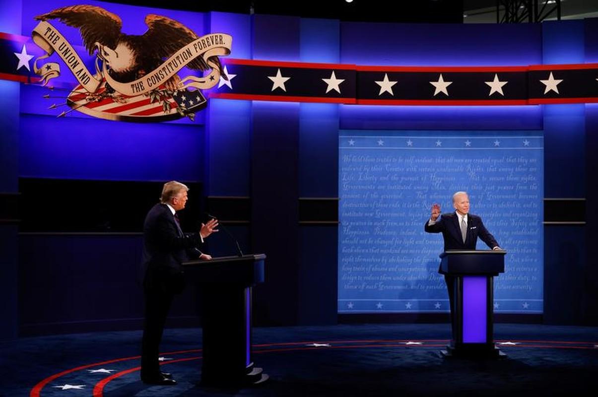 Hinh anh dau tien trong cuoc tranh luan giua ong Trump - Biden-Hinh-5