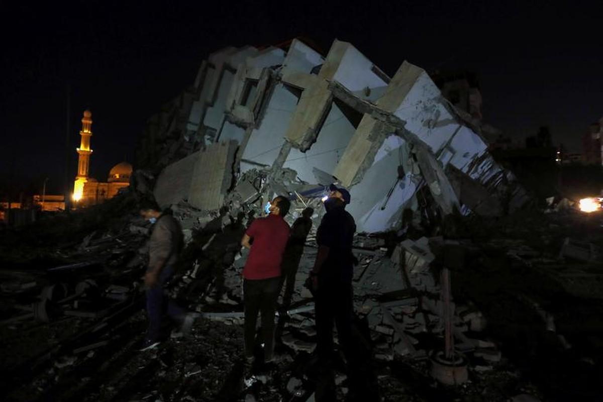 Can canh toa thap 13 tang o Gaza bi Israel san phang-Hinh-10