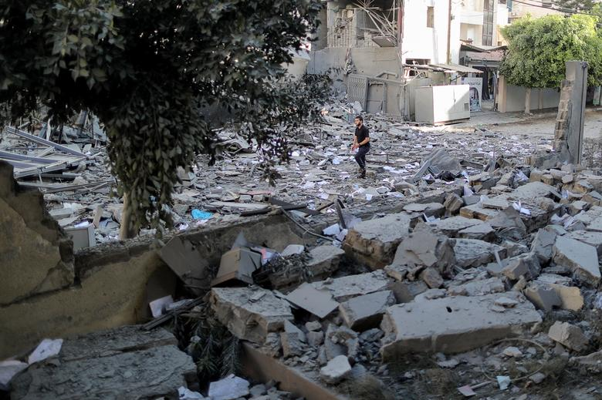 Can canh toa thap 13 tang o Gaza bi Israel san phang-Hinh-3
