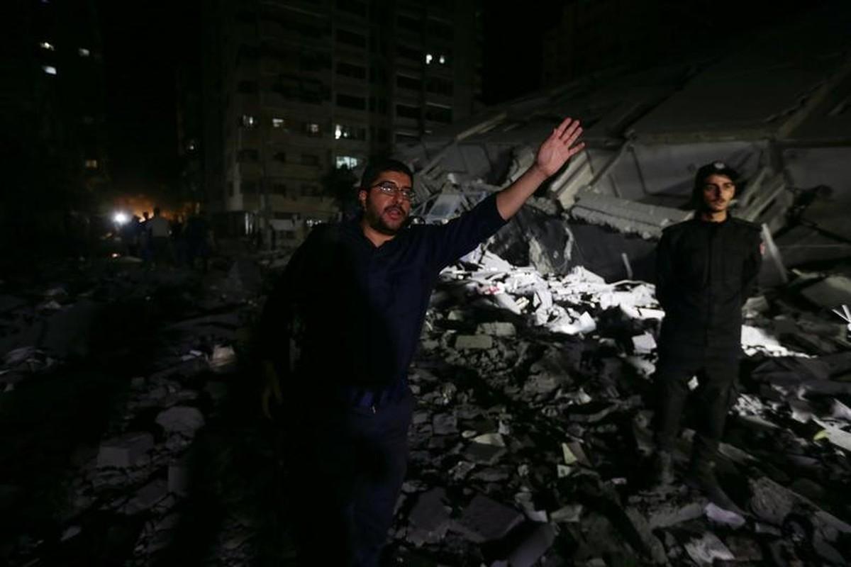 Can canh toa thap 13 tang o Gaza bi Israel san phang-Hinh-9