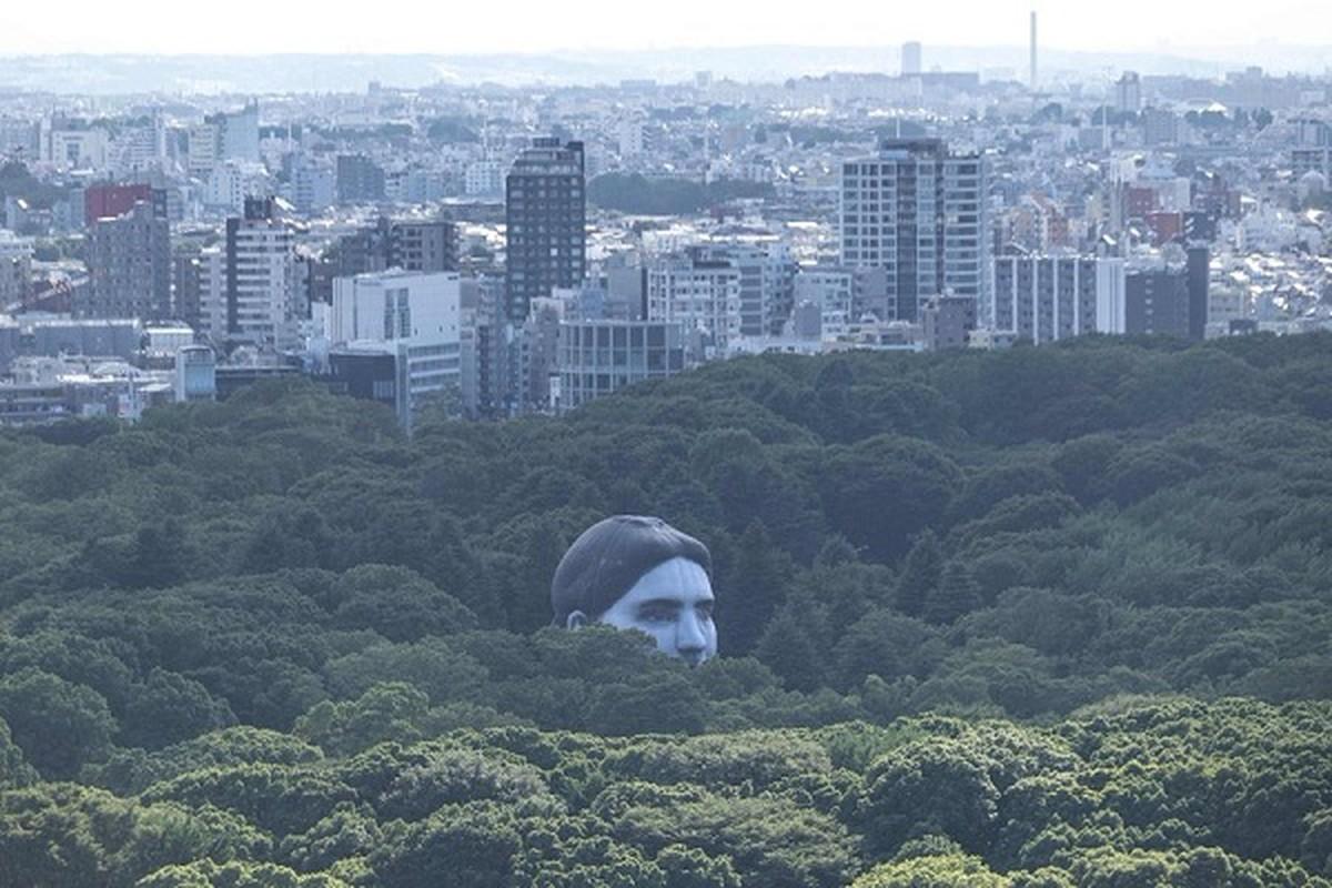Khinh khi cau hinh dau nguoi khong lo bay tren bau troi Tokyo
