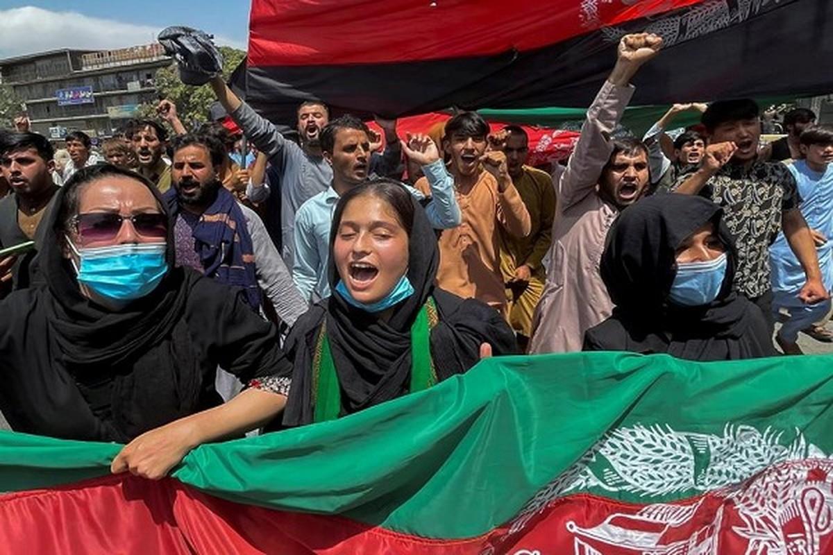 Toan canh bieu tinh phan doi luc luong Taliban tai Afghanistan