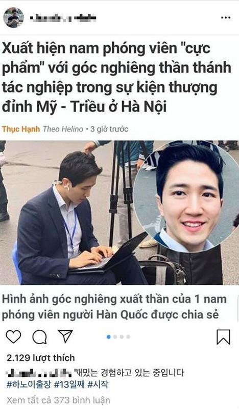 Nam PV Han Quoc hao hung khoe duoc len bao Viet Nam
