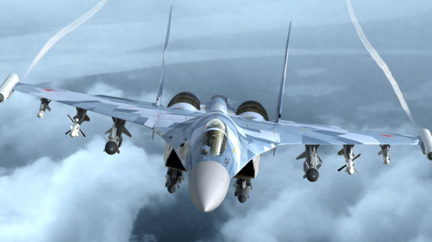 """Dat len ban can"" chien dau co F-35 My va Su-35 Nga-Hinh-3"