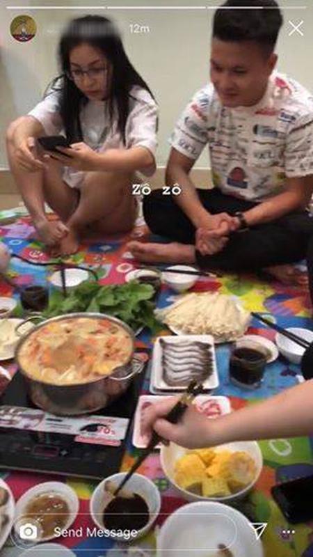 Mac Quang Hai tai hop Nhat Le,