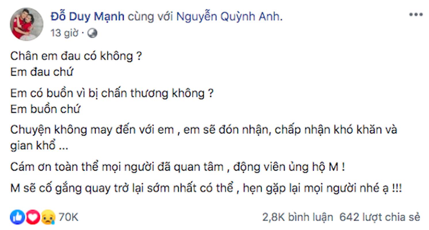 Fan rot nuoc mat tam su cua Duy Manh sau khi dinh chan cuc nang-Hinh-2