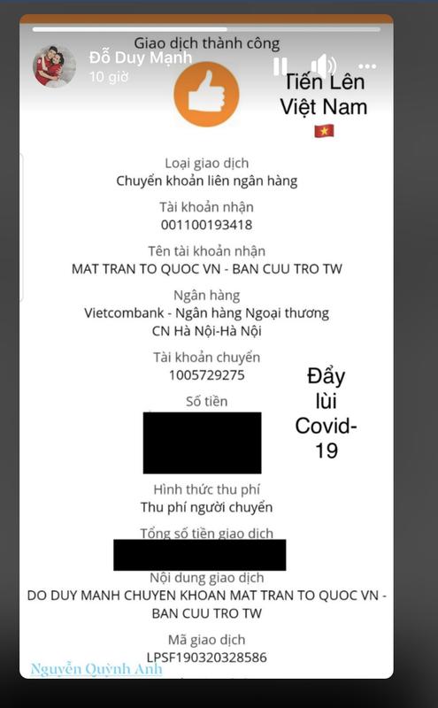 Dan cau thu doi tuyen Viet Nam chung tay cung To quoc day lui Covid-19