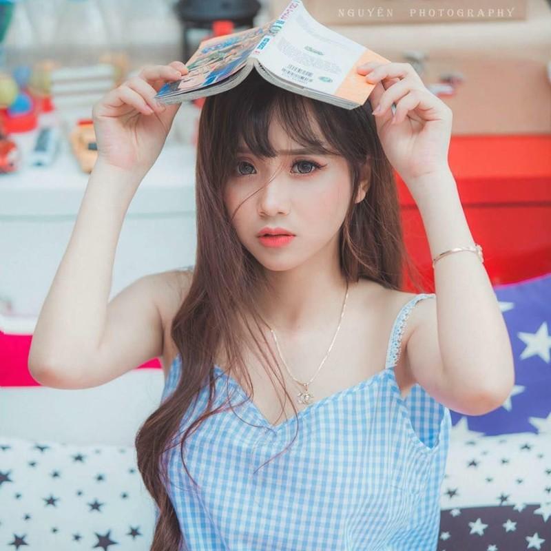 Nu sinh Dai hoc Ha Noi khoe ve dep trong veo cung nu cuoi toa nang-Hinh-9