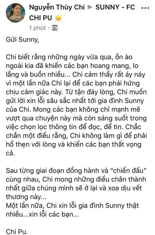 Chi Pu len tieng ve scandal chi em, Quynh Anh Shyn co dong thai la
