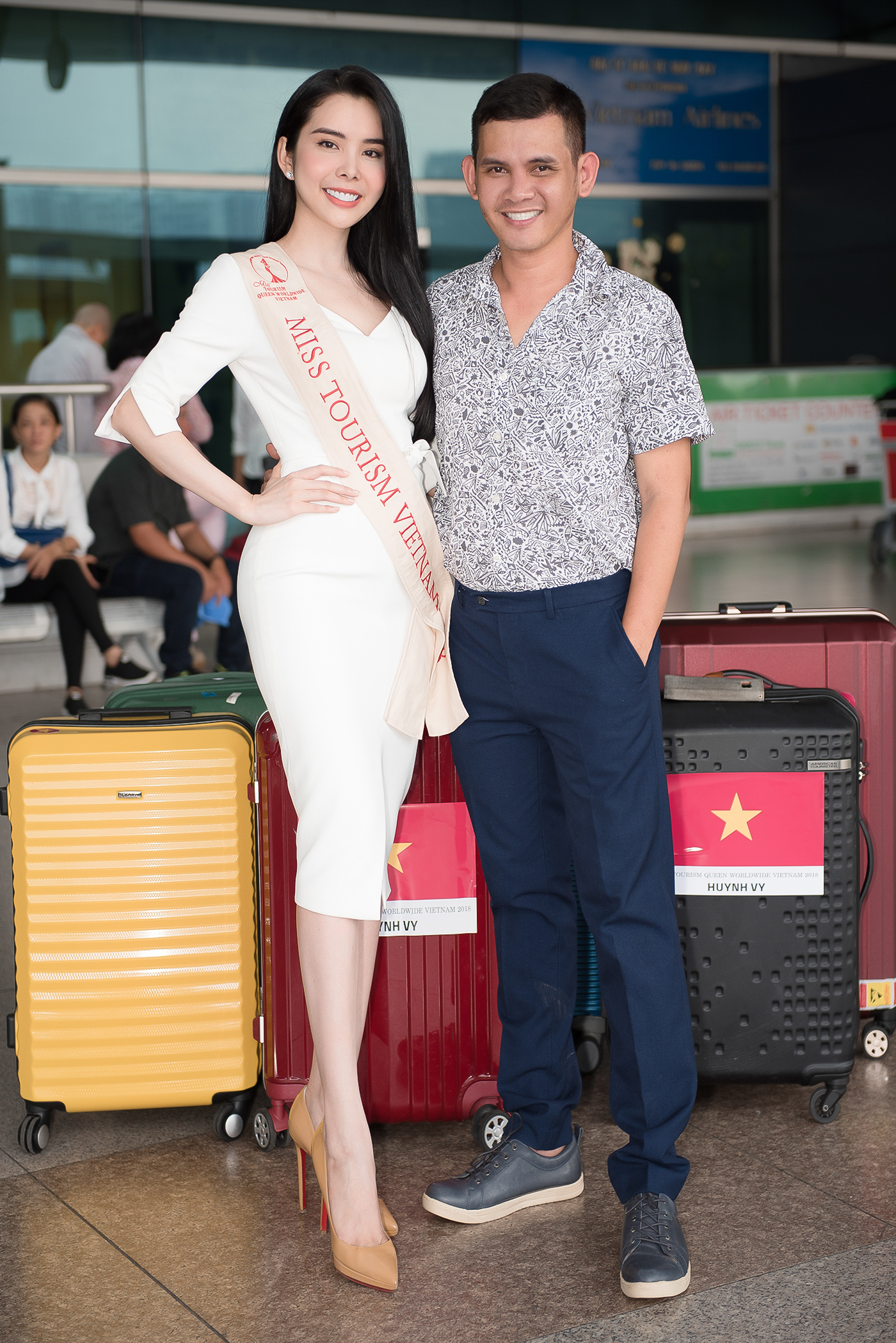 Lien Binh Phat tien Huynh Vy di thi Miss Tourism Queen Worldwide-Hinh-8