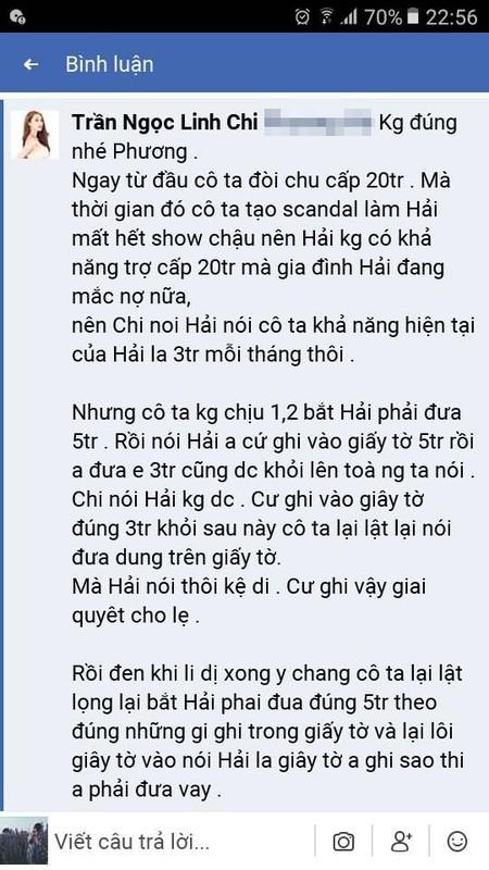 Vo cu Lam Vinh Hai to chong ky keo tien tro cap, Linh Chi phan ung-Hinh-11