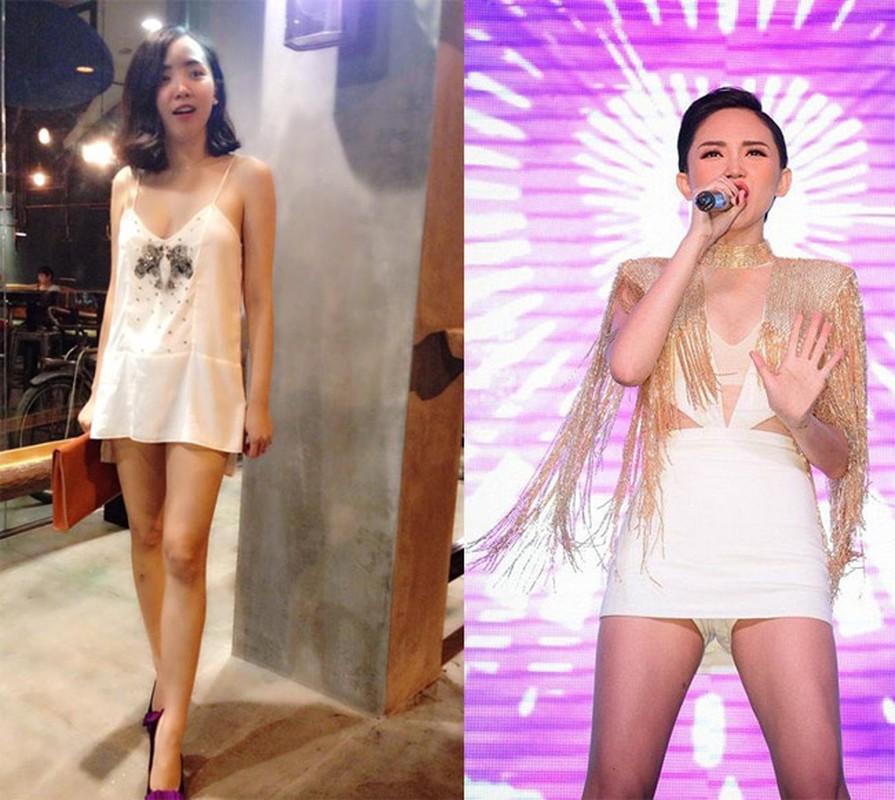 My nhan Viet mac vay ngan, giat minh thon thot so lo hang-Hinh-11